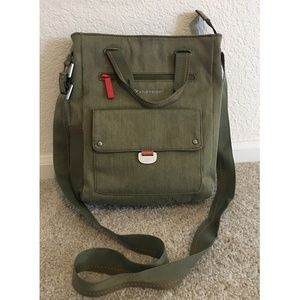 Sherpani structured cross-body army green bag